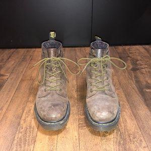 Brown Suede Dr. Marten Boots